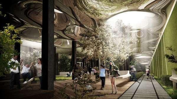 LOWLINE UNDERGROUND PARK    The LowLine underground park is a proposed project for the city of New York. Inspired by the High Line initiative, which focused on elevated parks in unused city infrastructures, this concept takes a gander at spaces that reside below.