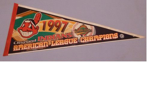 1997 CLEVELAND INDIANS WORLD SERIES PENNANT