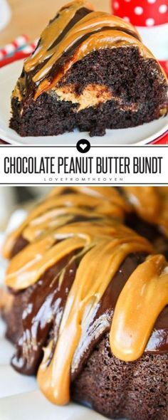 Chocolate Peanut Butter Bundt Cake Recipe.