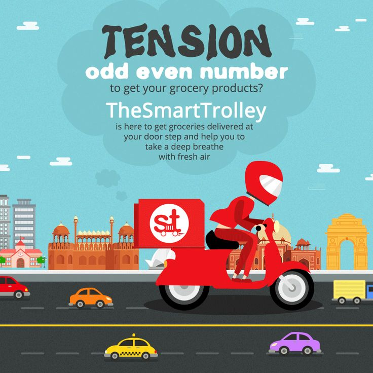 <<TENSION>> Odd Even Number to get your grocery products? TheSmartTrolley.com is here to get groceries delivered at your door step and help you to take a deep breathe with fresh air! #oddeven #delhioddeven #delhincr
