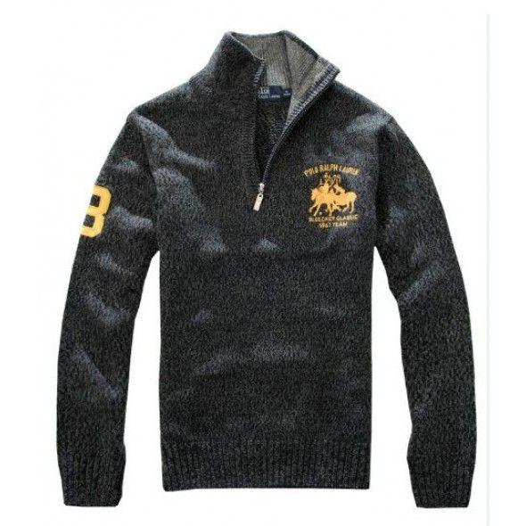 Ralph Lauren Darkgery Men Wool Big Pony Sweaters [rl 435] - £36.20 :