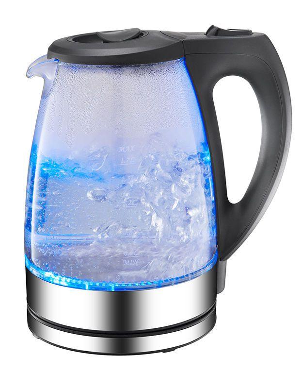 1,7 L 2200 W Wasserkocher Wasser Kocher Teekocher Edelstahl Glas LED 360° 07 Neu