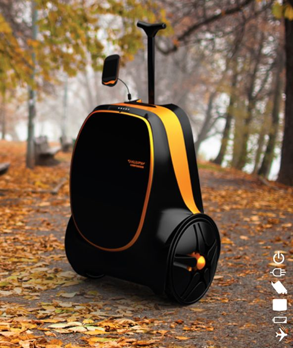 Designer Jung Inyoung has come up with rolling suitcase that provides power to your devices using kinetic energy.