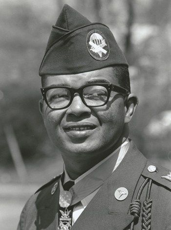 Medal of Honor Recipient Lawrence Joel.  He was the first medical aidman to ever receive the award, the first living African American to receive the award since the Spanish American War, the first enlisted man to receive the award from President Johnson and the first soldier from Winston-Salem to be so honored.