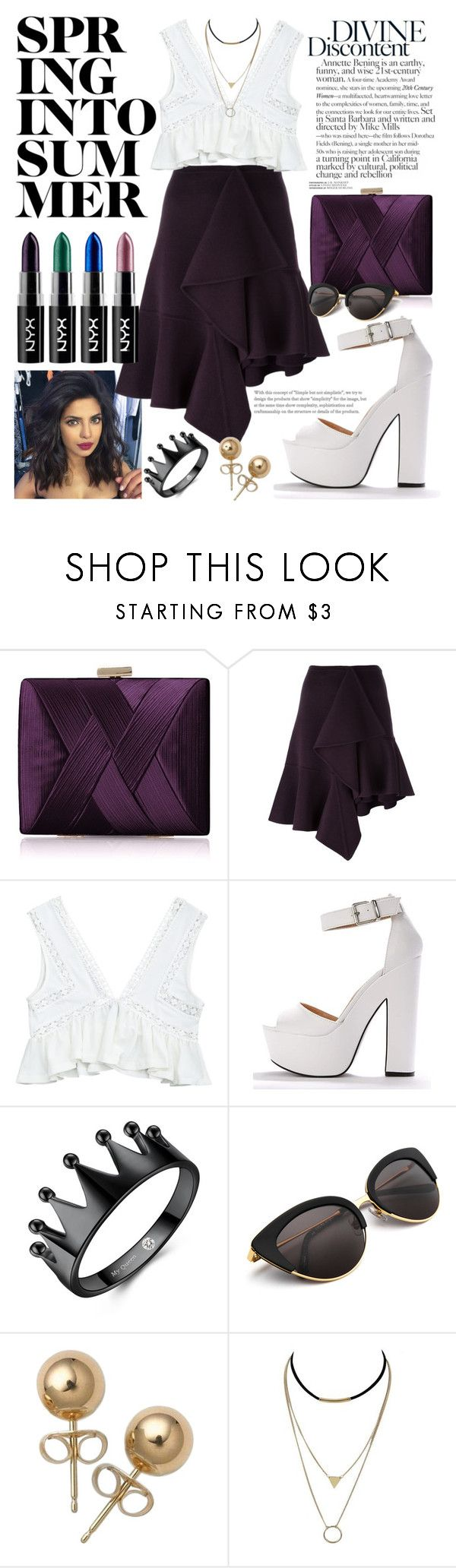 """""""White plum"""" by homancait ❤ liked on Polyvore featuring La Regale, Rochas and Bling Jewelry"""