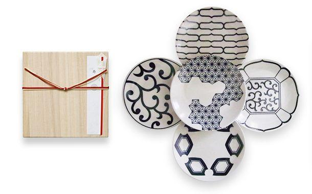 引出物 磁器の染め付け5寸皿 5枚セット|HIGASHIYA Online shop