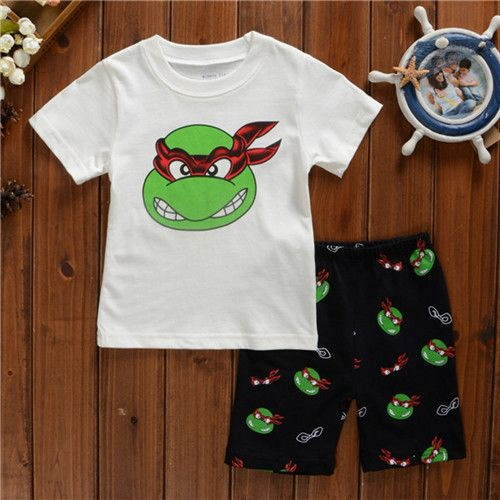 fashion Children  Clothing Set Baby Boys  girls t shirts+shorts sports suit kids clothes