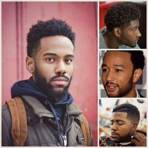 Photo de coiffure pour homme afro avec dégradé de la tête à la barbe