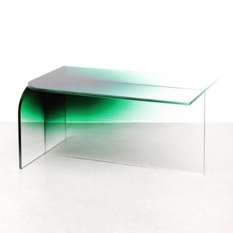DESIGN Crush Ombre Glass Coffee Table By Germans Ermics
