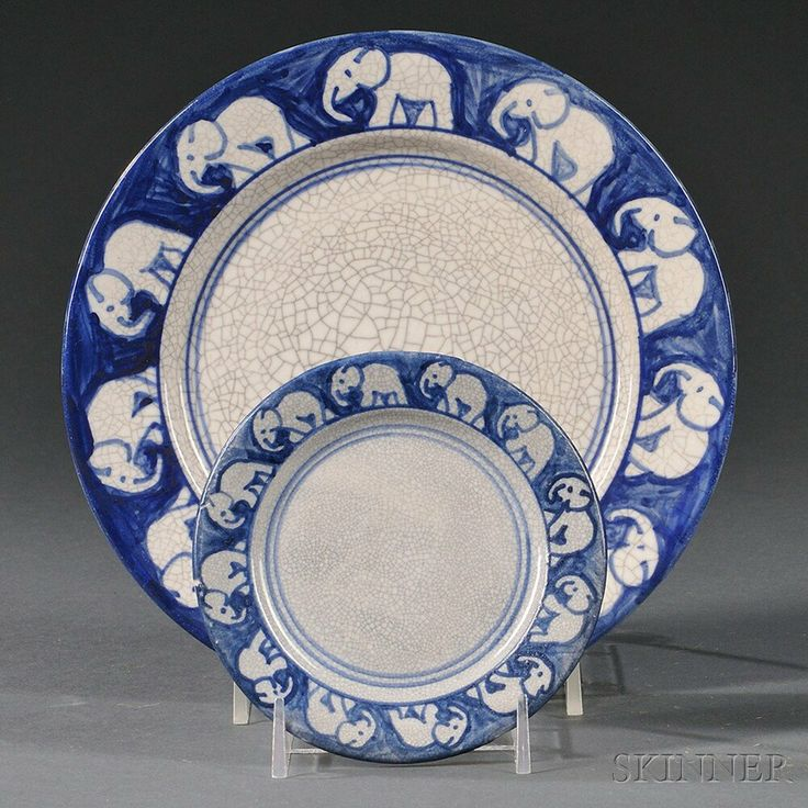 Two Dedham Pottery Elephant Plates & 22 best Material Culture-Childrenu0027s Tableware images on Pinterest ...