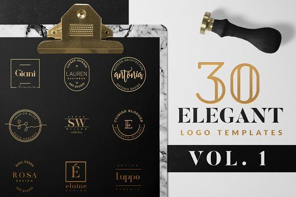 Elegant Logo Pack VOL 1 by Graphic Dash on @creativemarket