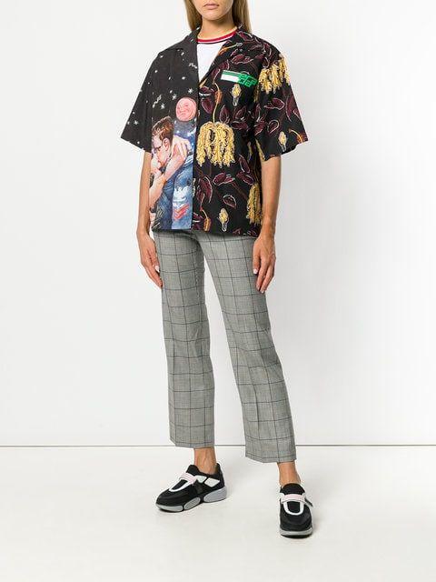 b35609100 Prada Mixed cartoon print short sleeve shirt | Maximalism | Workout ...