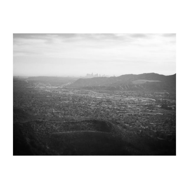 Los Angeles view. Burbank, California. January, 2014.