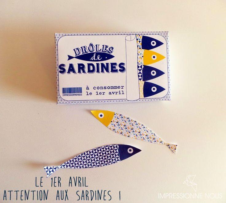 Impressionne nous !: Attention le 1er avril, invasion de sardines ! {téléchargement offert}