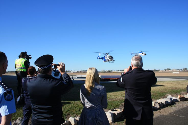 Taking pictures at the launch of Polair2, our second police helicopter