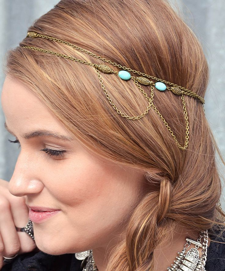 Loving this FPCO Limited Turquoise & Bronze Serena Headband on #zulily! #zulilyfinds