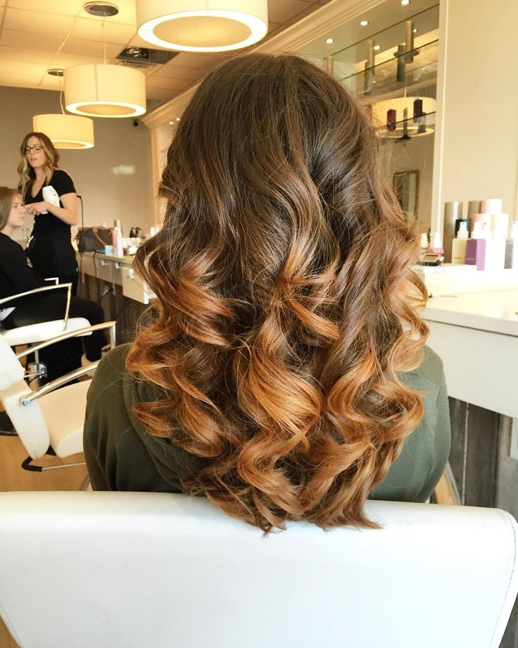 Soft curls by Gabi at The Blowout Bar in Columbus, Ohio.