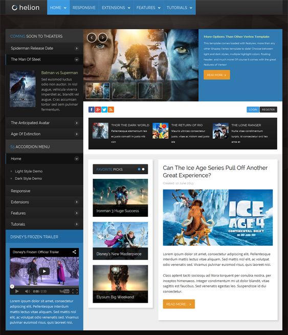 Exelent Joomla Social Network Template Collection - Professional ...