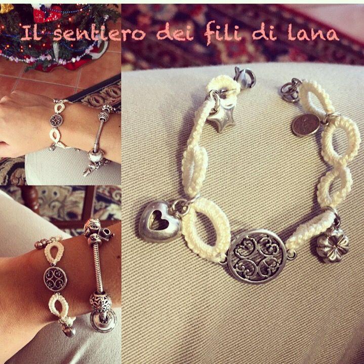 Instagram-> il sentiero dei fili di lana #faidate #handmade #bracciale