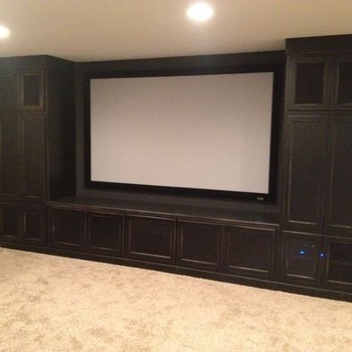 framed projection screen w/ storage -id have it so the screen can go up as we'd have to have it in front of a window~