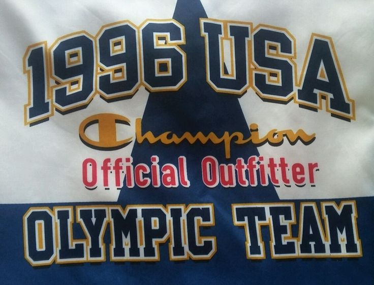 1996 Atlanta Summer Olympic Champion Windbreaker Jacket XL White Free Mug! #Champion #Olympics