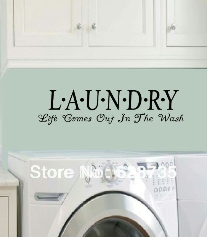 Laundy Life Comes Out In The Wash Vinyl Wall Decal Modern Decor Sticker Design Ideas