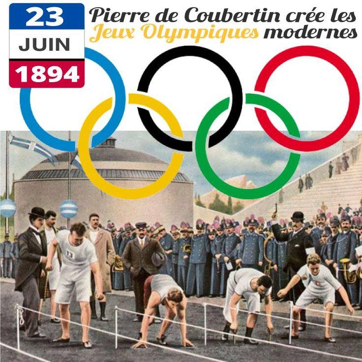 23 juin 1894 - Pierre de Coubertin crée les Jeux Olympiques modernes