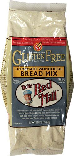 Homemade Wonderful Gluten Free Bread Mix. *This stuff is amazing! I made it using Ener-G Egg Replacer and Rice Milk in my Oster Bread Machine. I baked an additional 10 mins at 375 degrees for perfect crust and doneness. Great every day bread!*