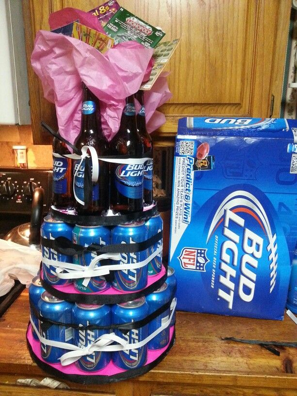 21st birthday present ! I would want angry orchards instead of bud light!