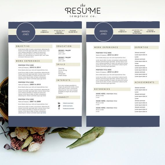 Resume Template Printable CV Template by TheResumeTemplateCo