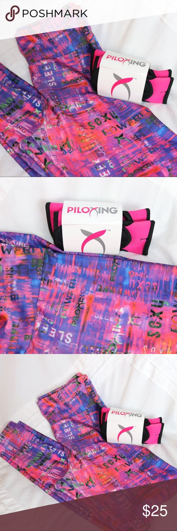 Piloxing Kit, Leggings & Gloves! Patterned Fitness Leggings with 1/2 pound Piloxing Gloves. Brand new Piloxing Other