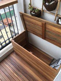 Hölzerne und mobile Plattform, zum des Kondensators vom Balkon der Soraya-Wohnung zu verstecken – Lucas Luiz de França – Andrea