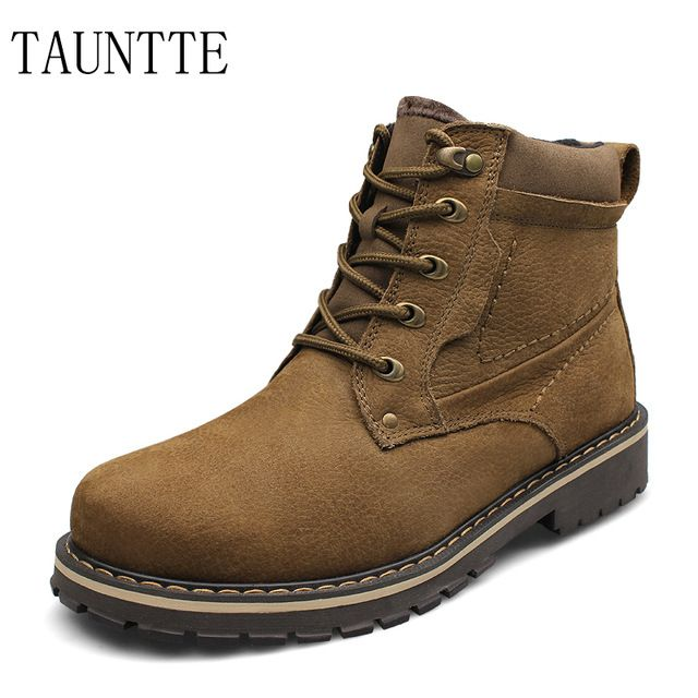 Promotion price Plus Size Winter Genuine Leather Ankle Boots Men European Waterproof Nubuck Leather Boots Warm Work Boots With Fur just only $53.46 - 57.78 with free shipping worldwide  #menshoes Plese click on picture to see our special price for you