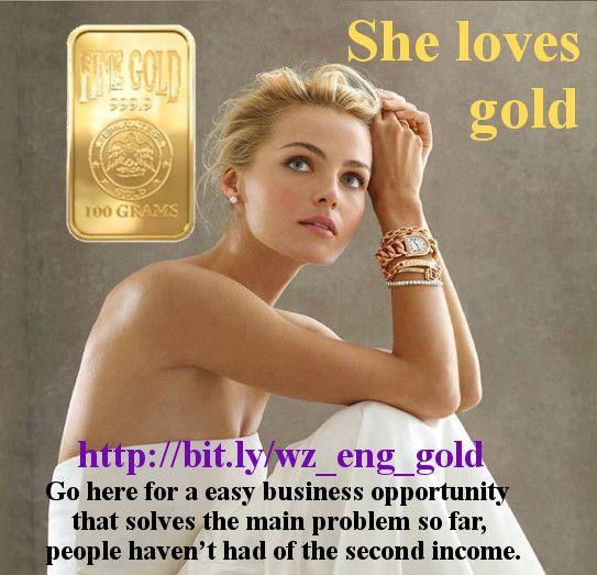 She loves gold