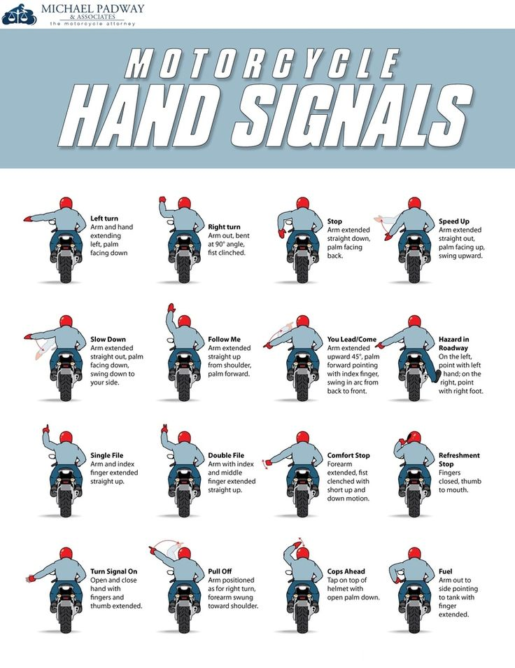 Learn to be safe around motorcycles by knowing what to look out for. This infographic from Michael Padway & Associates can help.