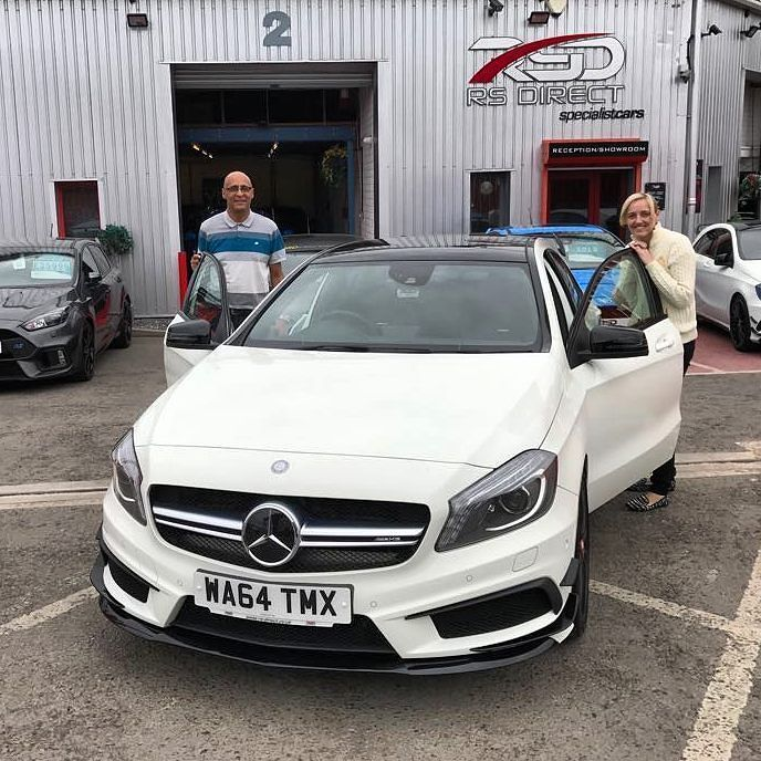 Lovely couple Floyd & Sarah from Manchester collecting their Mercedes A45 AMG Aero Pack well deserved and it was a pleasure to meet you both we hope the Mercedes serves you well for years to come.