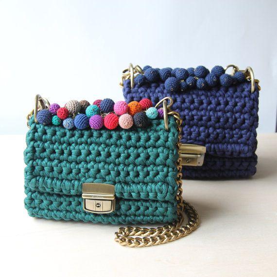 Flap bag handle  Clutch bag crochet handle  Bag от Sevirikamania