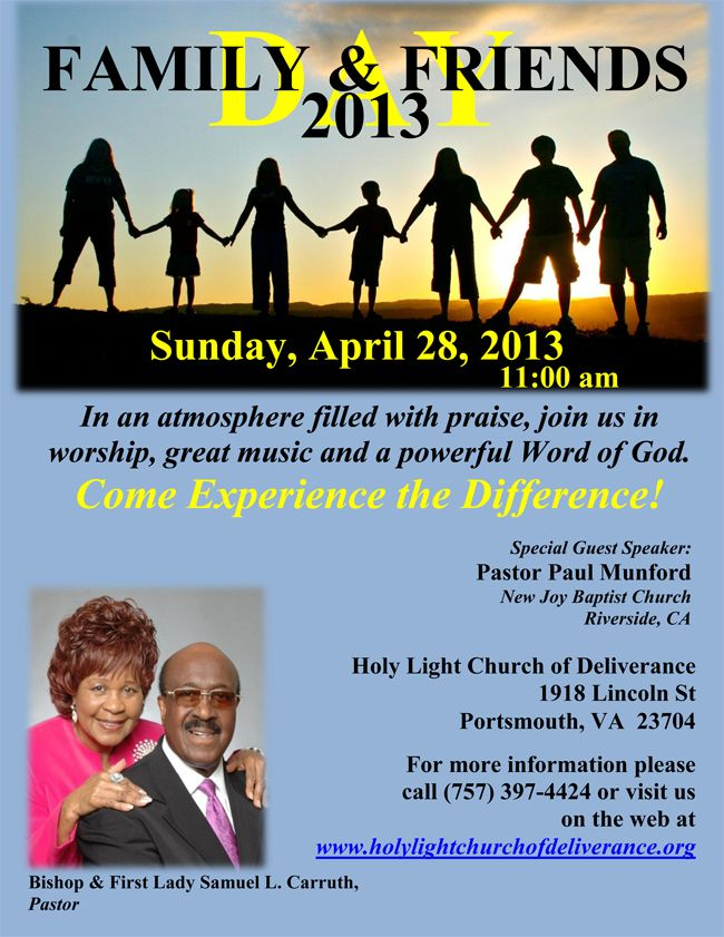 Unity AME Church Seffner, FL - Family and Friends Day |Themes For Family And Friends