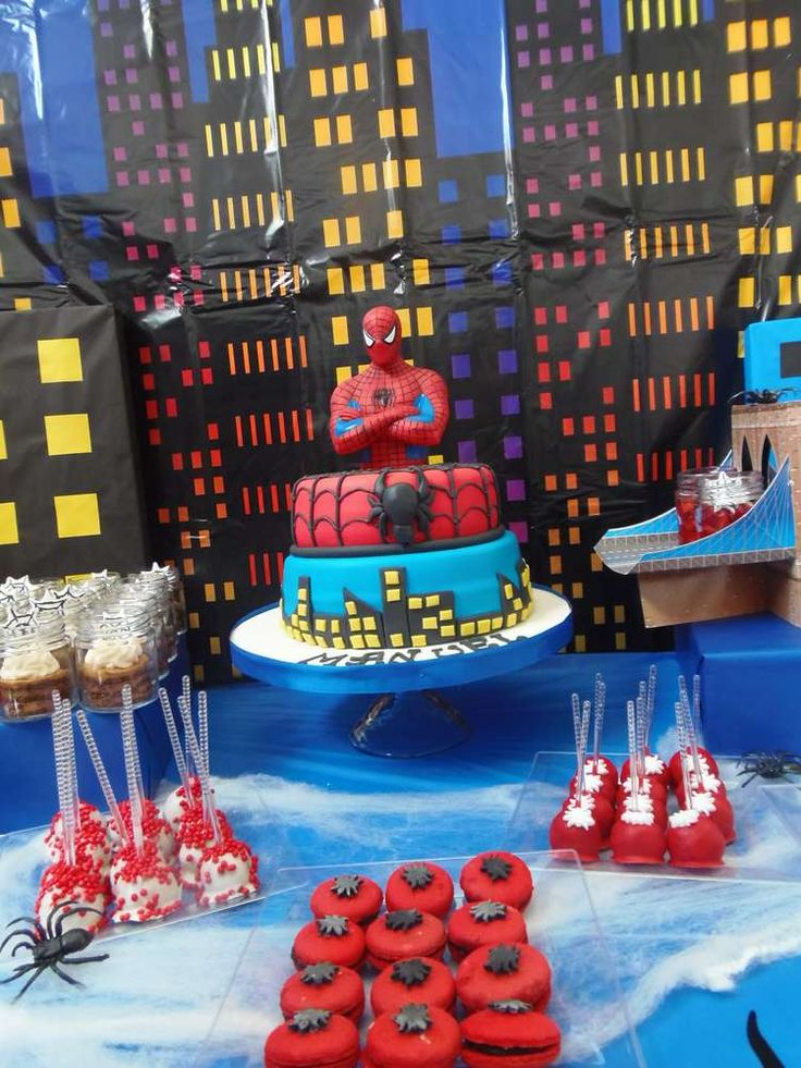 Awesome Spiderman birthday party! See more party ideas at CatchMyParty.com!