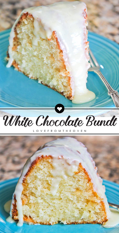 Easy White Chocolate Bundt Cake Recipe With White Chocolate Ganache