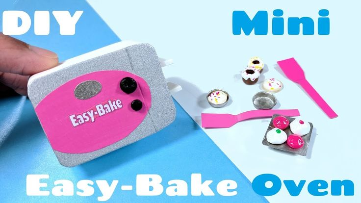 tutorial: miniature Easy-Bake oven and accessories