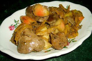 W Mojej Kuchni Lubię..: wątróbka z korą cynamonu w jabłkach i dyni...