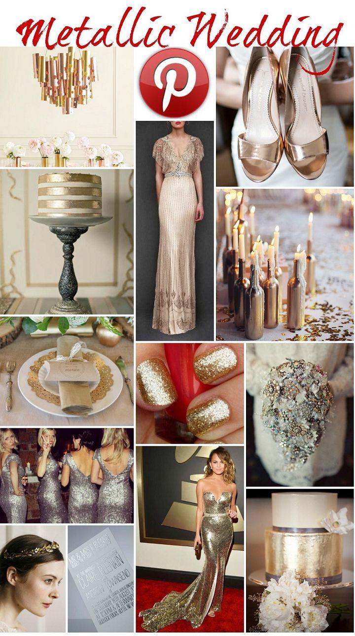 Boho Pins: Metallic Weddings