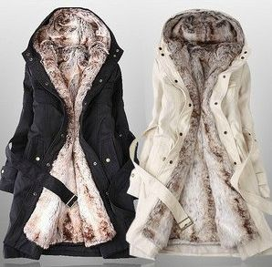 Faux Fur Lined Coat- need!! Love tje fur, love tje trench, if only I lived where it's cold...