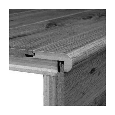 """Bruce Flooring 0.38"""" x 2.75"""" x 78"""" Yellow Birch Stair Nose in Coventry Brown"""
