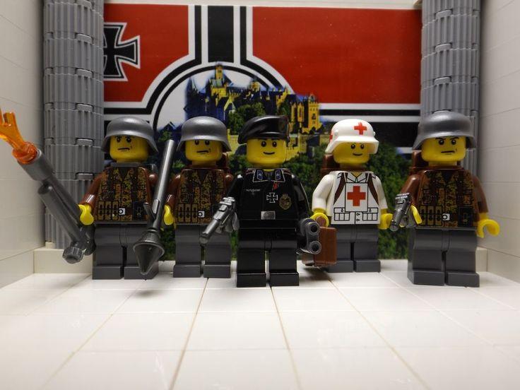 Lego 5x germans panzer regt waffenoberfeldwebel panzergrenadiers medic