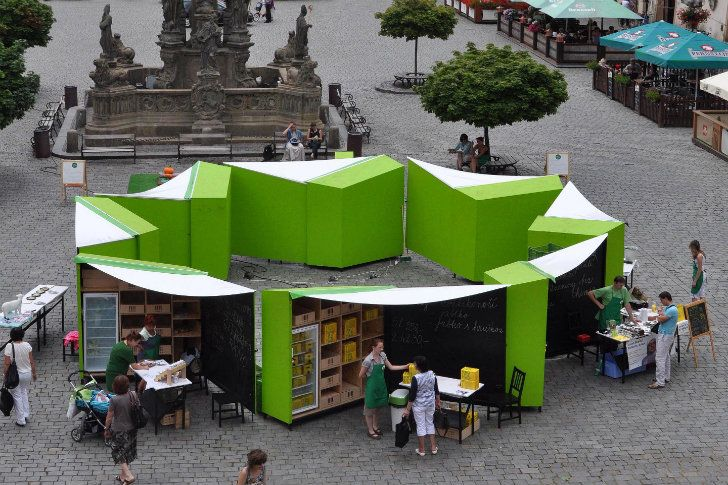 Czech Green Market Stalls Create Greater Connection Between Vendors and Shoppers TRH Market Stalls-Edit Architecture – Inhabitat - Green Design, Innovation, Architecture, Green Building