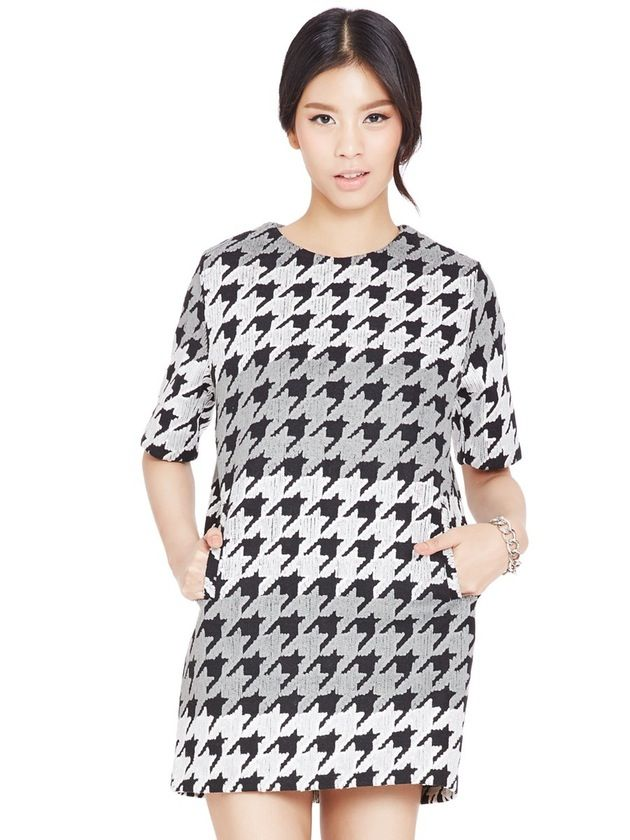 Image of Houndstooth Shift Dress
