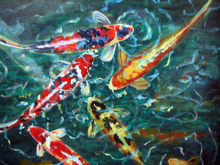 19 best images about koi on pinterest koi art artworks for Premade koi ponds
