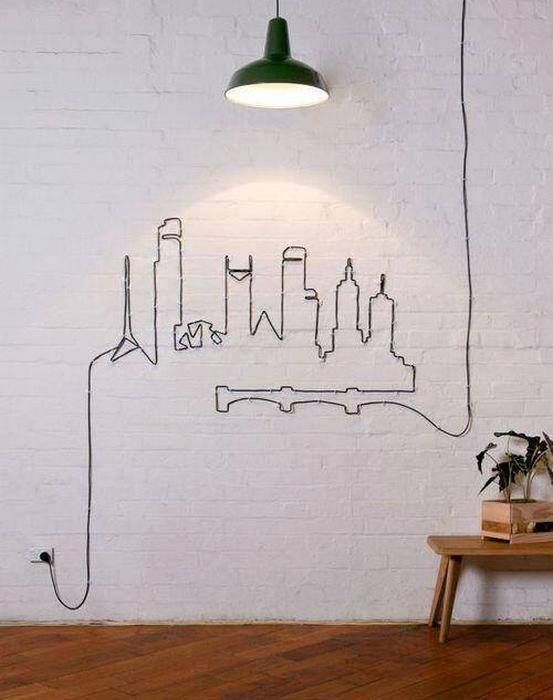 Who says you have to hide cables? :) #wallart